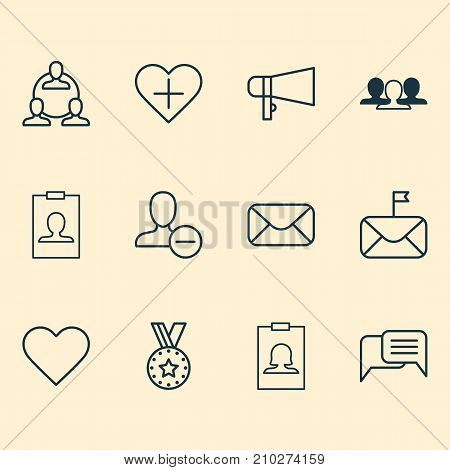 Social Icons Set. Collection Of Teamwork, Medal, Badge And Other Elements