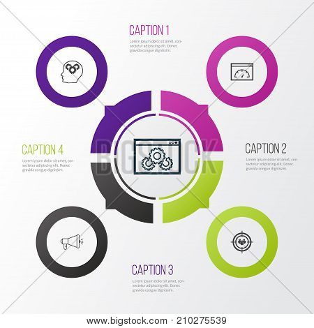 Marketing Icons Set. Collection Of Focus Group, Intellectual Process, Loading Speed And Other Elements