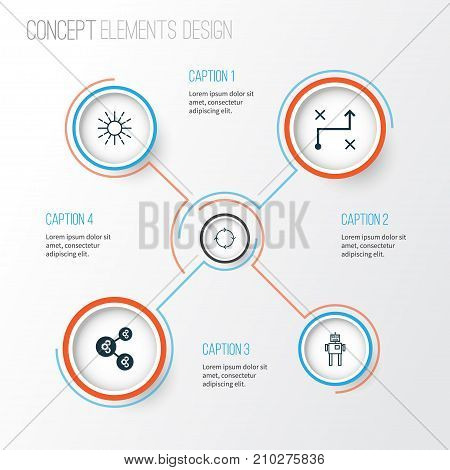 Learning Icons Set. Collection Of Algorithm Illustration, Recurring Program, Cyborg And Other Elements