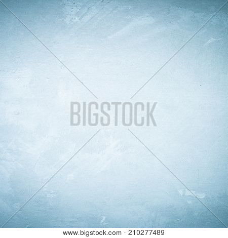 Blank grunge cement wall texture background blue colored