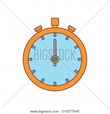 Stopwatch icon. Cartoon illustration of Stopwatch vector icon for web isolated on white background