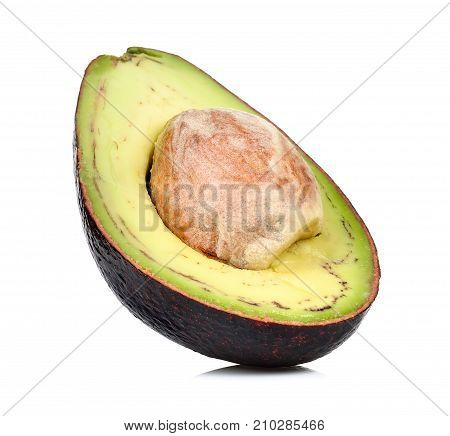 Half Avocado Isolated On The White Background