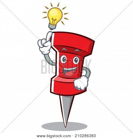 Have an idea red pin character cartoon vector illustration