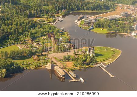 Aerial view to the Moscow Region in summer