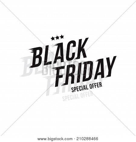Black Friday. Font Inscription For The Holiday Sale On White Background. Flat Vector Illustration Ep