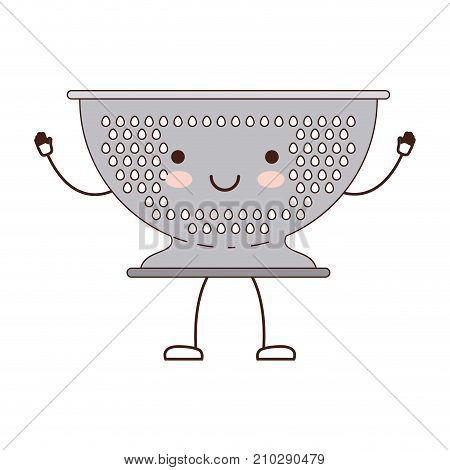 kitchen drainer colorful cartoon silhouette vector illustration