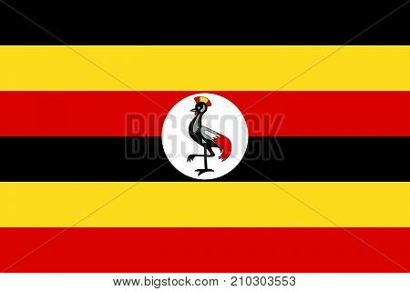 The Official vector flag of Uganda .