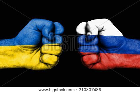 Conflict Between Ukraine And Russia - Male Fists