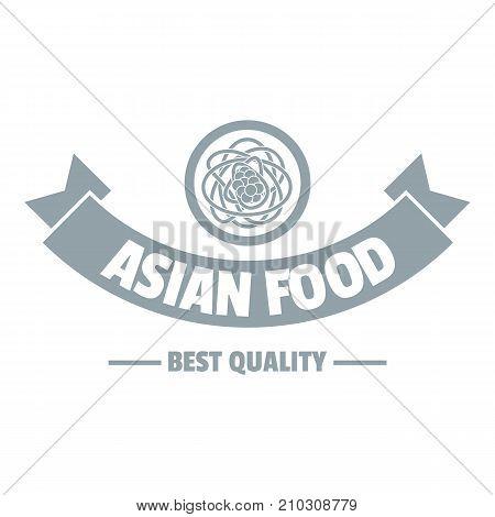 Hot asian food logo. Simple illustration of hot asian food vector logo for web