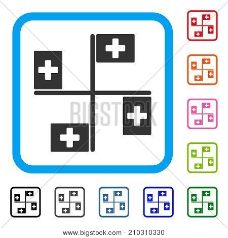Hospital Flags Icon Vector Photo Free Trial Bigstock