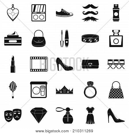 Stylist icons set. Simple set of 25 stylist vector icons for web isolated on white background