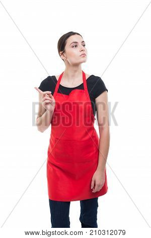 Beautiful Young Employee Showing Rejection Gesture