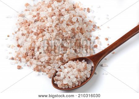Salt And Spoon Close-up