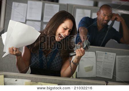 Employee Yells On Phone
