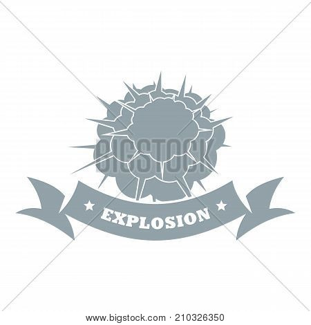 Atomic explosion logo. Simple illustration of atomic explosion vector logo for web