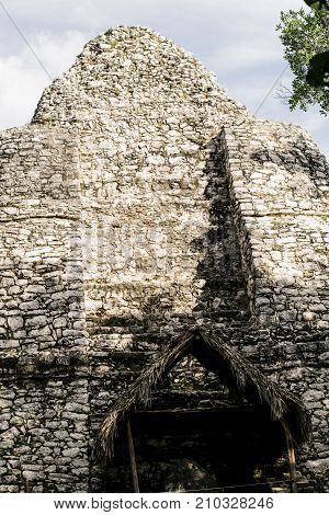 Mayan temple at Coba archeological site Mexico