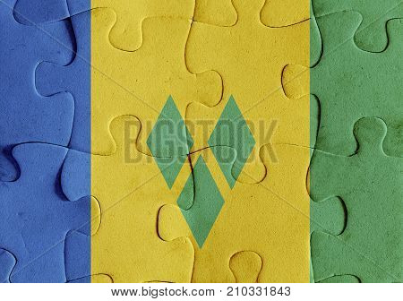 Saint Vincent And The Grenadines Flag Puzzle