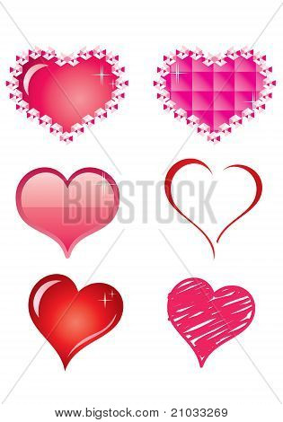 Vector Heart set Collection