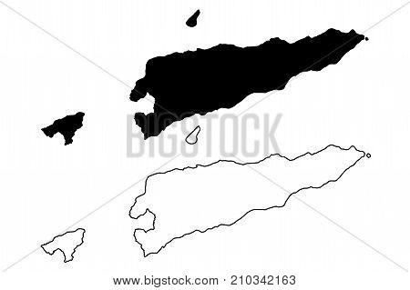 East Timor map vector illustration , scribble sketch East Timor