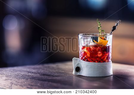 Fresh Cocktail Drink With Ice Fruit And Herb Decoration. Alcoholic, Non-alcoholic Drink-beverage At