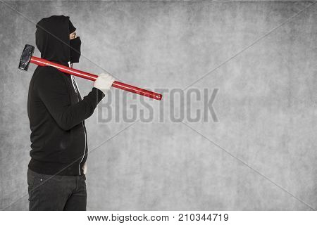 Masked Aggressive Man, Copy Space Next