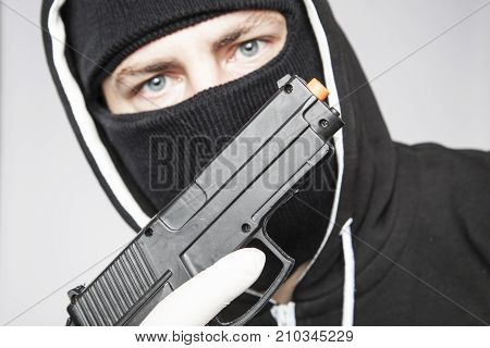 The Terrorist Shows The Gun