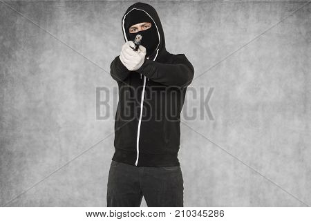 Terrorist With Arms In His Hands
