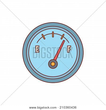 Fuel meter icon. Cartoon illustration of Fuel meter vector icon for web isolated on white background