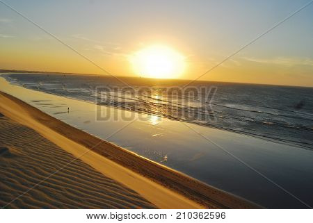 Jericoacoara dune sunset, inspiring. Ceará, Brazil 2014