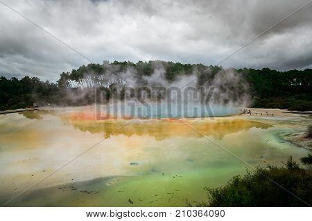 Champagne Pool In Rotorua, New Zealand