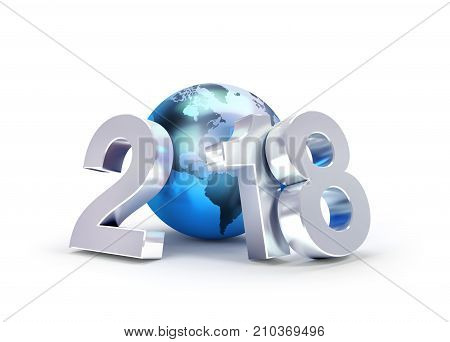 2018 New Year Symbol For Worldwide Business