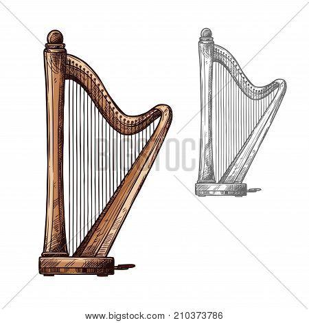 Harp String Musical Vector Photo Free Trial Bigstock