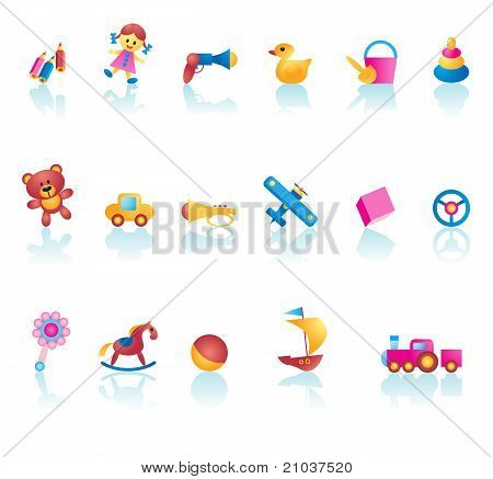 Kid Toys Icon Set
