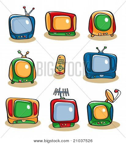 Tv Icon Set