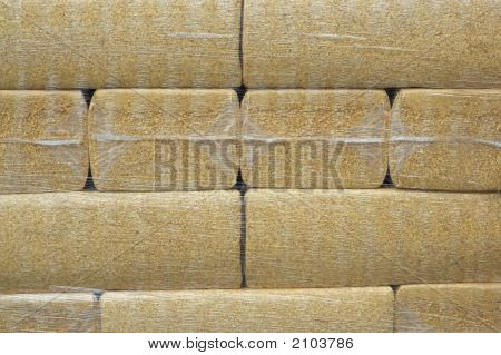 Packs Of Sawdust - Neatly Stacked