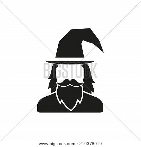 Icon of game character. Wizard, hero, portrait. Game components concept. Can be used for topics like magic, application, Halloween