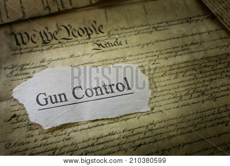 Gun Control news headline on the US Constitution
