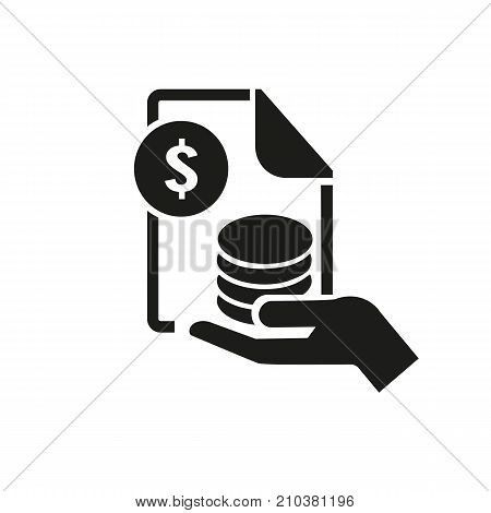 Icon of stock exchange access. Economy, money, earning. Banking product concept. Can be used for topics like finance, wealth, commerce
