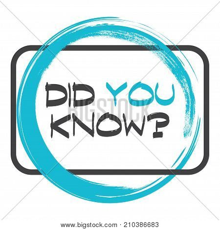 Did you know. Vector illustration on white background.