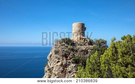 Torre del Verger in Banyalbufar, Majorca (Balearic Islands, Spain)