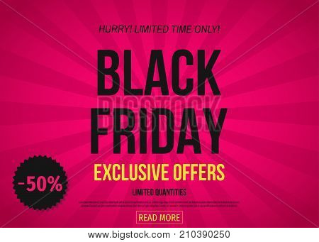 Black Friday Exclusive Offer Banner: 50% Off.