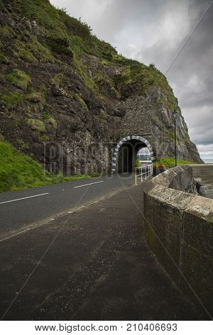 a famous landmark in Larne Co.Antrim North Ireland
