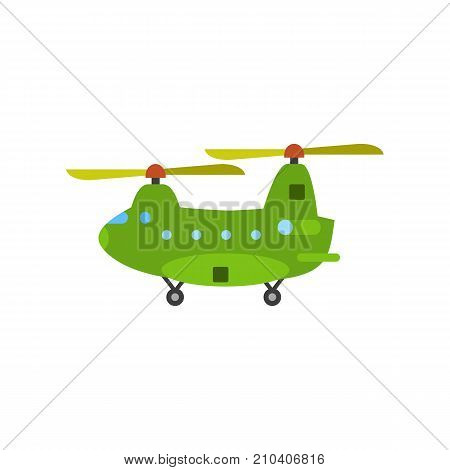 Military cargo copter. Aviation, vehicle, army. Military concept. Can be used for topics like force, air freight, national security. poster