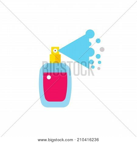 Perfume spray bottle. Scent, fragrance, essence. Beauty concept. Can be used for topics like perfumery, fashion, trends.