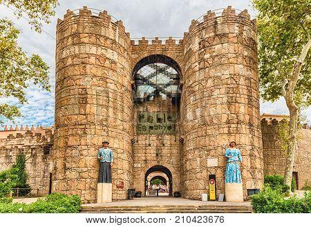 Main Entrance Of Poble Espanyol Village, Barcelona, Catalonia, Spain