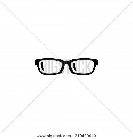 Nerd Vector Element Can Be Used For Specs, Glasses, Eyeglasses Design Concept.  Isolated Specs Icon.