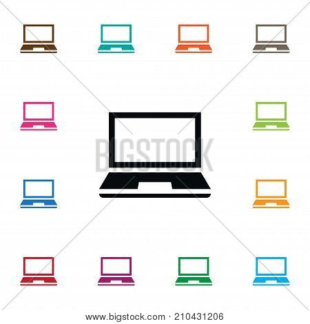 Desktop Vector Element Can Be Used For Desktop, Notebook, Laptop Design Concept.  Isolated Notebook Icon.