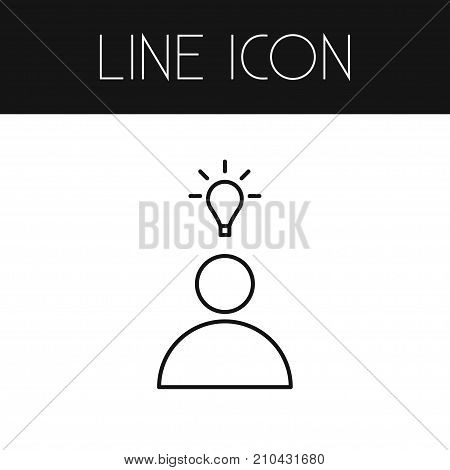 Idea Vector Element Can Be Used For Idea, Bright, Think Design Concept.  Isolated Bright Outline.