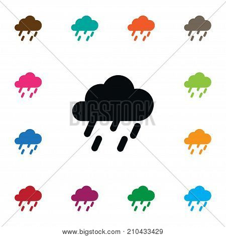 Raindrop Vector Element Can Be Used For Cloudy, Rainy, Raindrop Design Concept.  Isolated Rainy Icon.