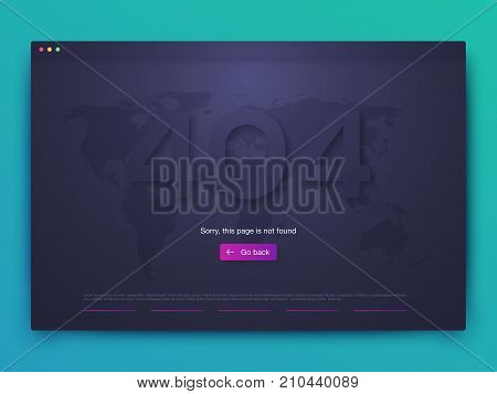 Vector Illustration of screens and web concept. Interface UX, UI GUI screen template for web site banners. 404 error poster